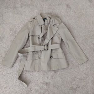 Forever21 Double Breasted Tan Beige Coat